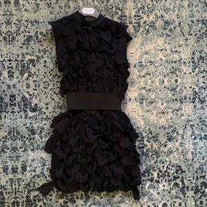 Lanvin x H&M black dress with gros grain ribbon
